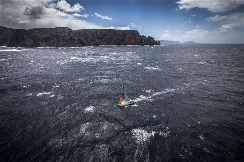 Veloce carves a track on the way to Hobart. Sydney Hobart 2013 - Photo By: Rolex / Daniel Forster